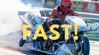 "Larry ""Spiderman"" McBride Best Run on New Top Fuel Bike!"
