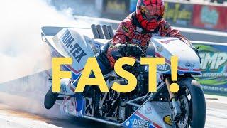 "Larry ""Spiderman"" McBride Best Run on New Top Fuel Bike!"
