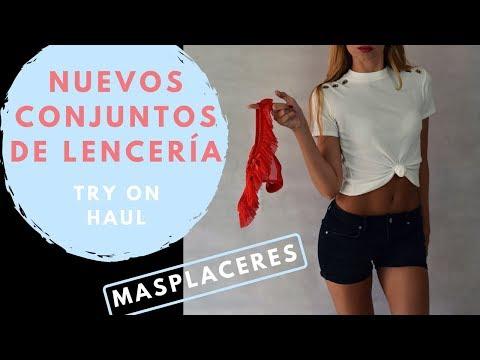 Mis nuevos conjuntos de lencería Try on haul Masplaceres   My new set lingerie