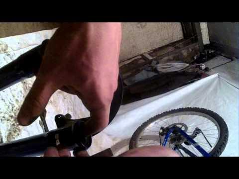 Ремонт пружинно-эластомерной вилки велосипеда Racer