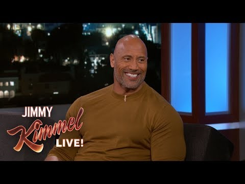 Dwayne Johnson Wants Jimmy Kimmel to Deliver His Baby (видео)