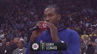 Lakers Fans Boo Kawhi Leonard at Staples Center Debut | Full Clippers Intros