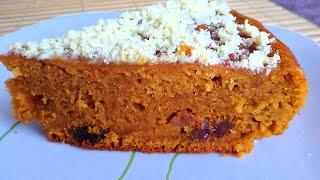 Смотреть онлайн Рецепт вкусного тыквенного пирога в мультиварке