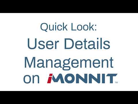 how to access user details on iMonnit