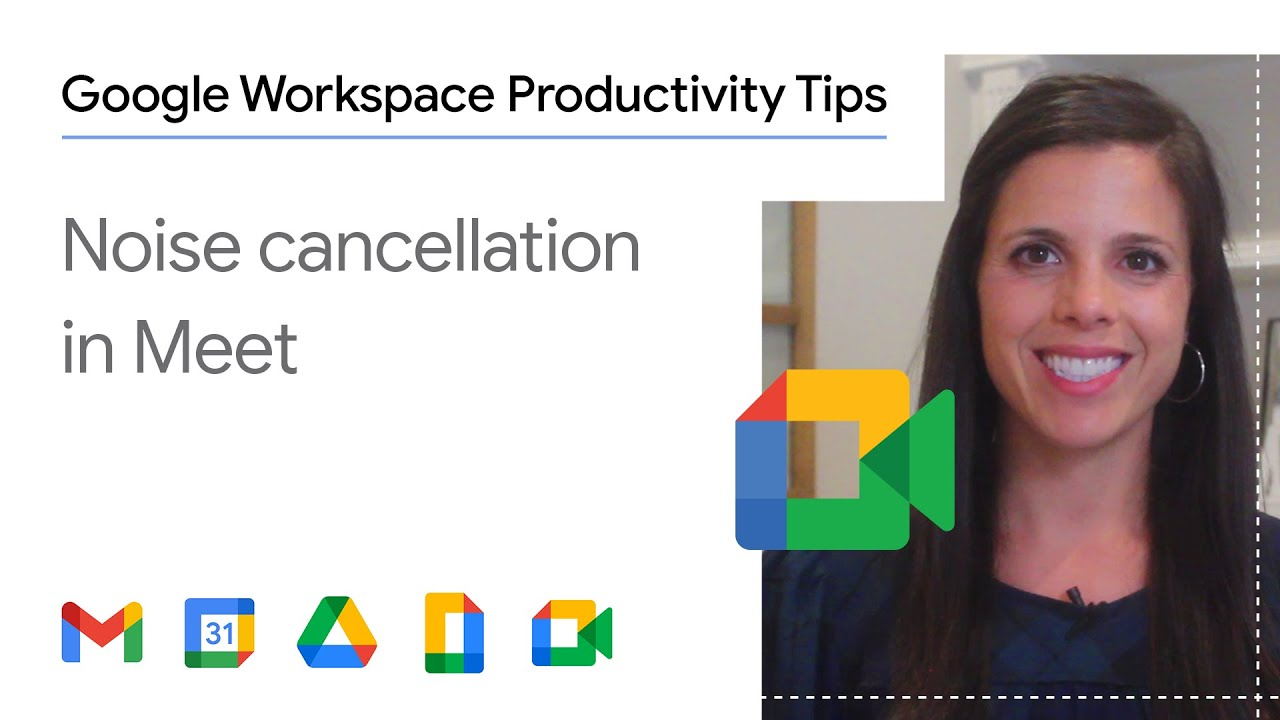 Having meetings at home can sometimes be noisy whether it's due to on-going construction on your house or your pet making some background noise. In this episode of Google Workplace Productivity Tips, we show you how to enable the noise cancellation feature on Google Meet!