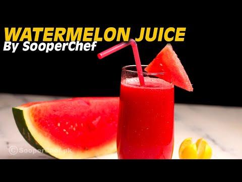 Video Watermelon Juice Recipe - SooperChef