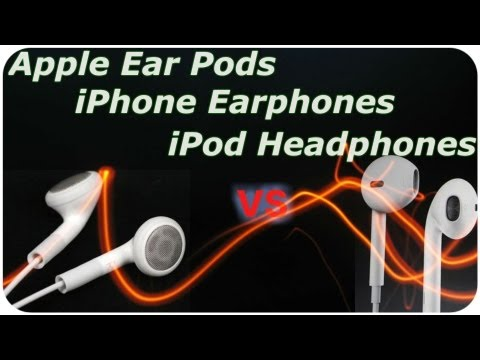 Apple EarPods VS iPhone Earphones VS iPod Headphones - Sound Test and Quality