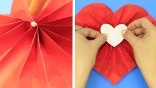 10 BEAUTIFUL AND EASY HEART CRAFTS  DIY LOVELY CRAFT IDEAS WITH HEARTS