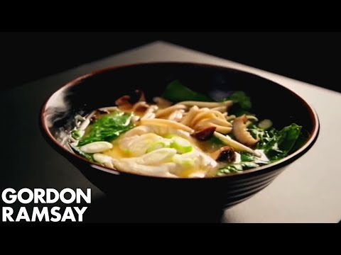 Noodle Soup With Poached Eggs & Spring Onions   Gordon Ramsay