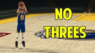 What If Stephen Curry Couldn't Shoot Threes? NBA 2K18 Challenge!