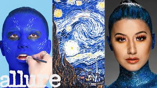 3 Makeup Artists Turn a Model into a Van Gogh Painting | Triple Take | Allure