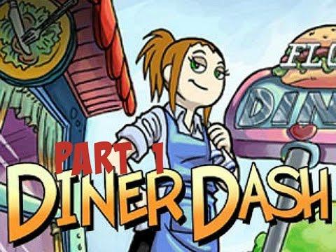 Diner Dash - Gameplay Part 1 (Level 1-1 to 1-4)