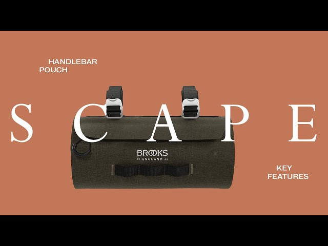 Видео Сумка BROOKS Scape Handlebar pouch Mud Green