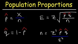 Finding The Confidence Interval of a Population Proportion Using The Normal Distribution