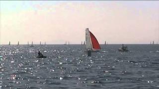 preview picture of video 'Fase finale regata Mondiale di Vela F18 Marina di Grosseto 2013'