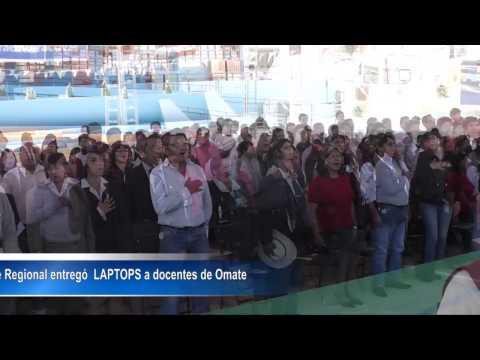Entrega de LAPTOPS  a docentes de Omate