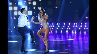 ¡Fede Bal y Laurita Fernández se lucieron como campeones en el Rock de salón!