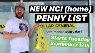 NEW DOLLAR GENERAL PENNY LIST -  September 17, 2019