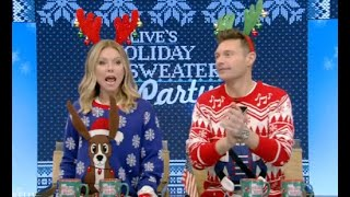 Kelly And Ryan Show Off Christmas Sweaters