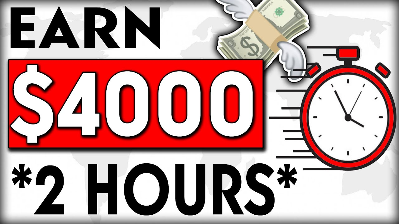 EARN $4000 With a Two Hour a DAY Strategy (Make Money Online) WORLDWIDE! thumbnail