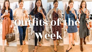 Outfits Of The Week Ten-Item Capsule Wardrobe | Early Fall