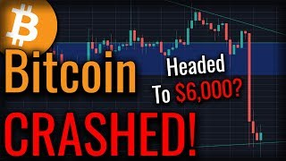 Bitcoin Jumped Off A Cliff! Is Bitcoin Headed To $6,000?