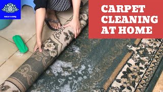 How to clean carpet at home / easy diy rug cleaning / cleaning carpet without machine