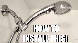 How to install a hand held shower head | under 5 minutes