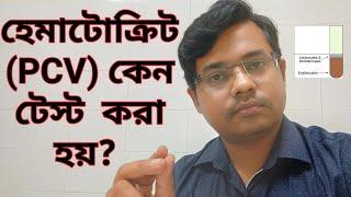 হেমাটোক্রিট টেস্ট|Hematocrit test|PCV|Packed cell volume| Vlog25|Bangla Health Education