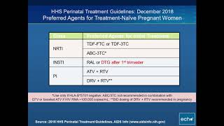 Antiretroviral Drugs in Pregnant Women with HIV Infection