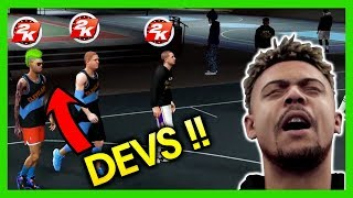 NBA 2K19 PARK WITH NBA PLAYER!! 2K DEVS PULLED UP ON US!!