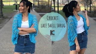 Crochet Lace Shell Shrug