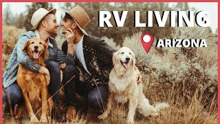 RV LIVING in ARIZONA   Travel across USA with GAY COUPLE