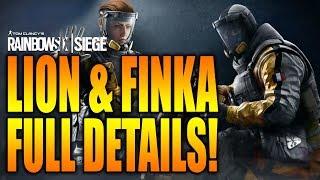 Rainbow Six Siege - In Depth: LION & FINKA FULL DETAILS! GAMEPLAY