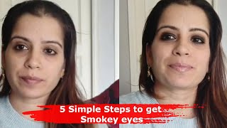5 Simple Steps to get Smokey eyes to look Using Kajal - Make-up Tips