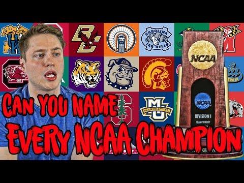 Can YOU NAME Every NCAA Basketball Champion?!