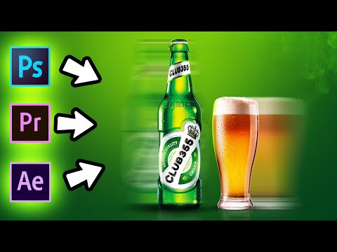 Simple Beer Advertisement - Using Photoshop, After Effects and Premier Pro