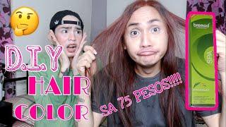 DIY HAIR COLOR BREMOD SA HALAGANG 75 PESOS !!! (Ok ba O hindi) | beki lovers