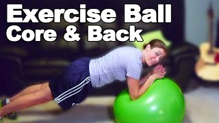 Exercise Ball Core and Back Strengthening Exercises (Moderate) - Ask Doctor Jo