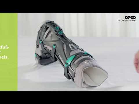 VACOped: Anlegen nach Achillessehnenruptur (dorsal/Spitzfuß Stellung) | Fußkonzept