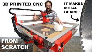3D PRINTED CNC CUTS METAL (from scratch)
