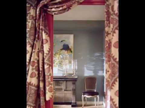 Красивые шторы на дверь и дверной проем