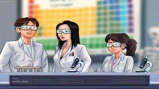 Summertime Saga 0.16.1 - Miss Okita's lab coat, lab glasses and blueprint.