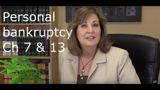 Chapters 7 & 13 bankruptcies explained
