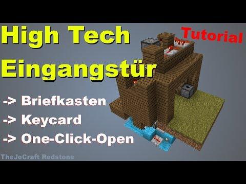 HIGH TECH EINGANGSTÜR   Mit Briefkasten, Keycard und Automatik   Tutorial