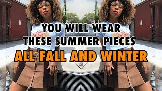 HOW TO TRANSITION FROM SUMMER TO AUTUMN CLOTHES!!