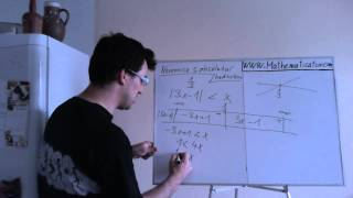 Nerovnice s absolutní hodnotou - tabulková metoda - 1 abs hodnota
