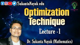 Lecture 1 - Optimization Techniques | Introduction | Study Hour