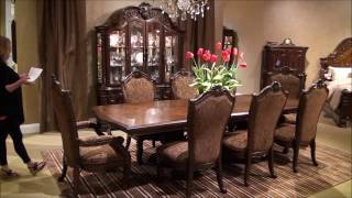Windsor Court Trestle Dining Room Set By Michael Amini