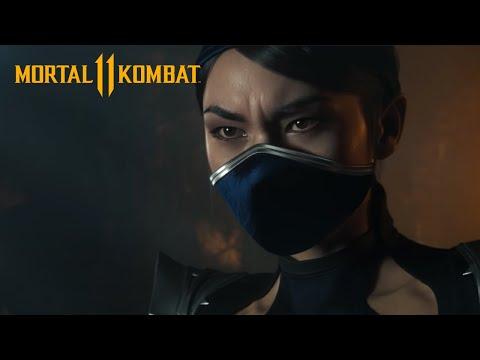 Publicité avec Kitana de Mortal Kombat 11